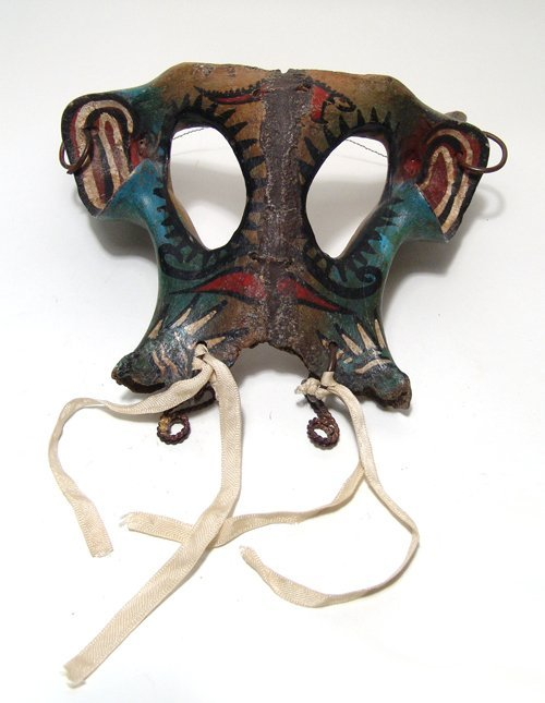 A Mexican 'Mojiganga' procession mask, Mochitlan