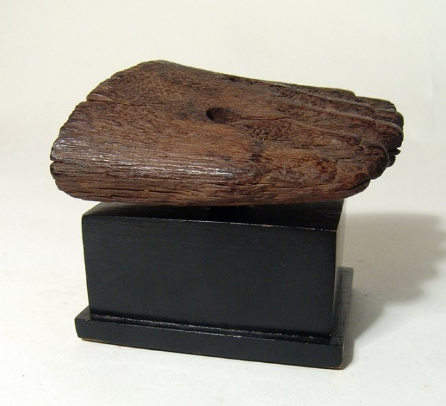 Egyptian wooden foot from statue, Middle Kingdom - 5
