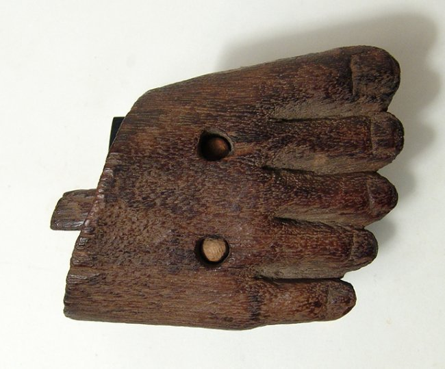 Egyptian wooden foot from statue, Middle Kingdom - 6