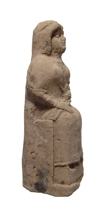 An Old Babylonian terracotta seated woman - 2