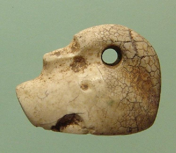 Neo-Babylonian creme marble stamp seal in form of duck - 2