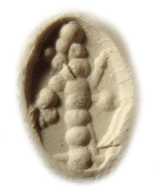 Neo-Babylonian creme marble stamp seal in form of duck - 3
