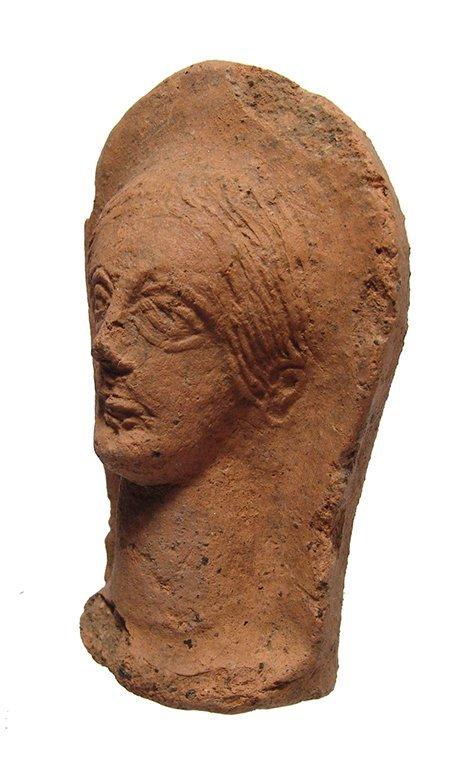 An Etruscan terracotta votive of a female head - 2