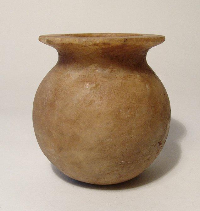 An Egyptian alabaster jar, Middle Kingdom - 2