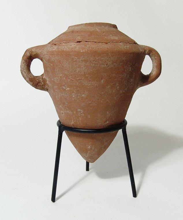 An Iron Age ceramic amphora, Holy Land