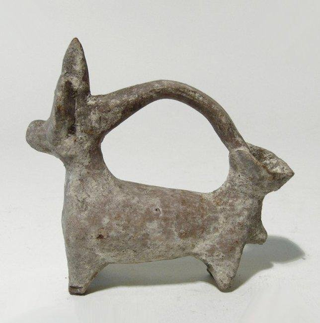 A nice Cypriot spouted vessel in the form of a bull