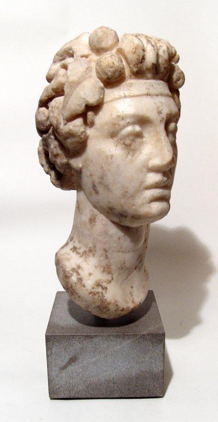 Fantastic Roman marble head of Commodus as Dionysus - 3