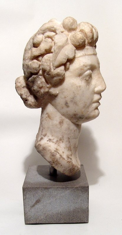Fantastic Roman marble head of Commodus as Dionysus - 4