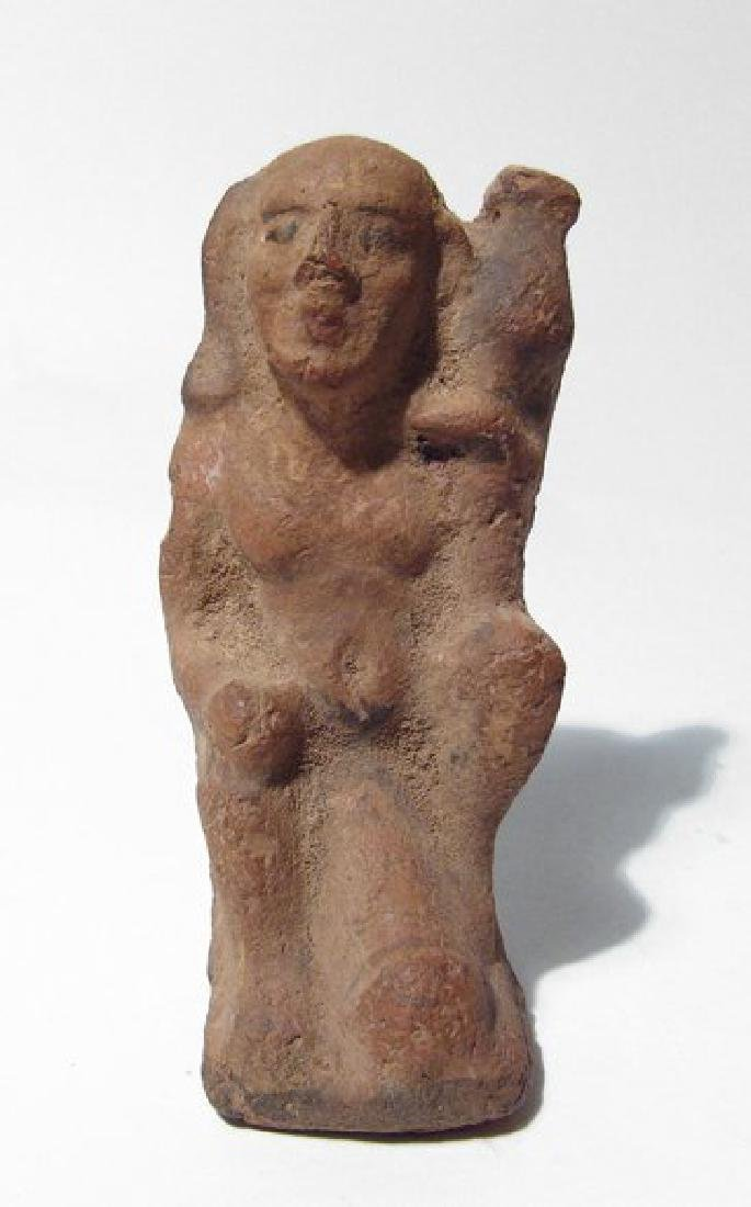 Egyptian ceramic figure of ithyphallic