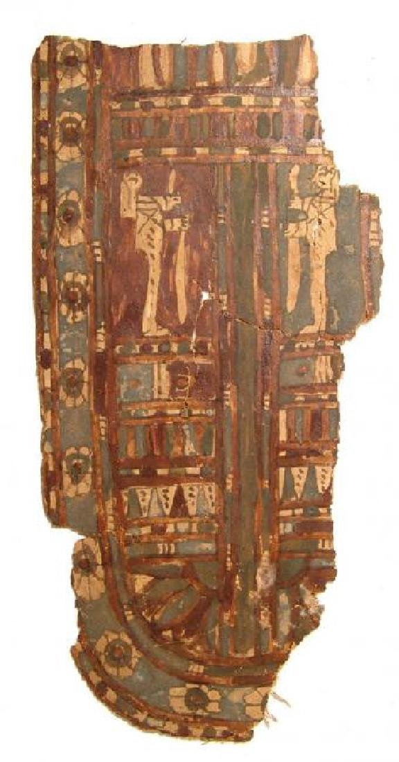 An attractive Egyptian cartonnage panel, Late Period