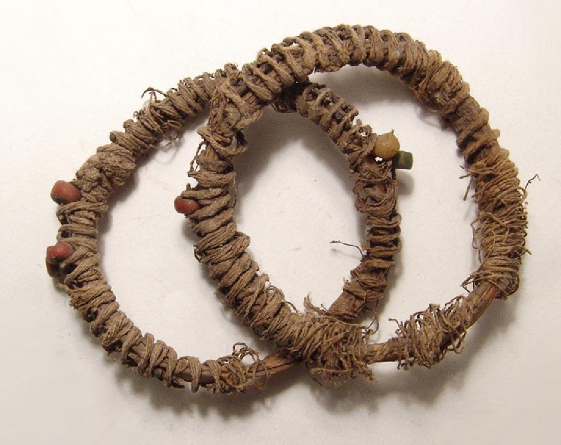 A pair of Roman bangles of palm lead fiber, Egypt