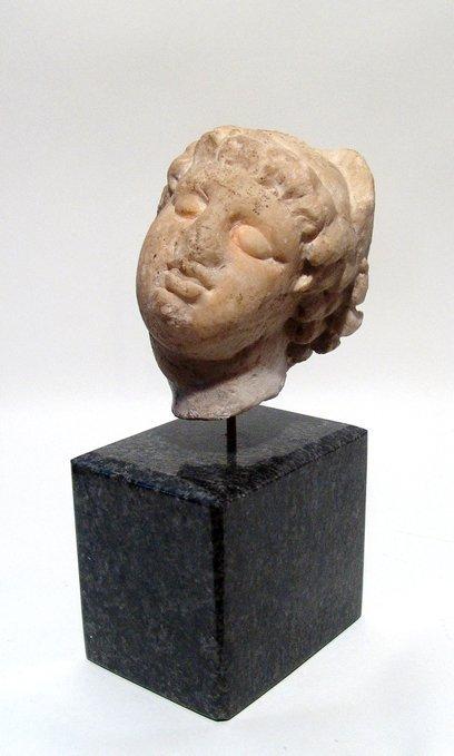 A beautiful Roman marble head of an enraptured Venus