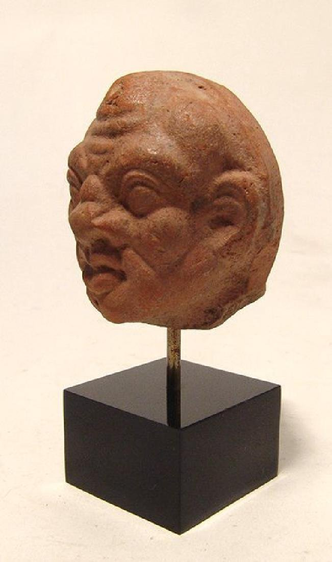 A Greek ceramic head of a male grotesque - 2