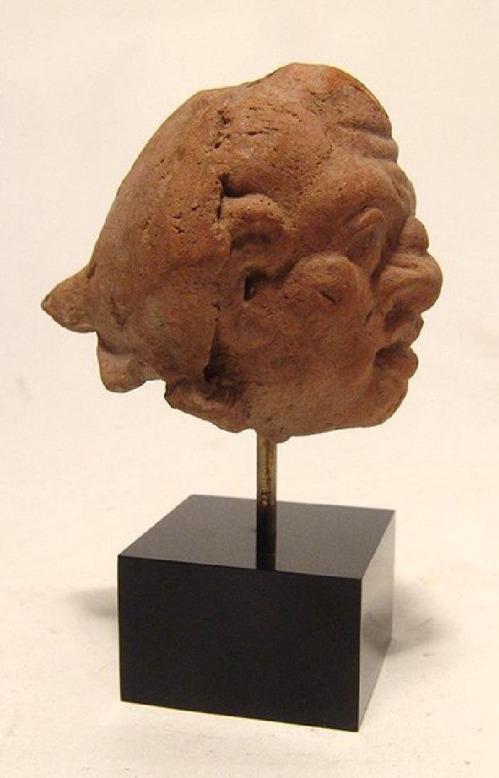 A Greek ceramic head of a male grotesque - 3
