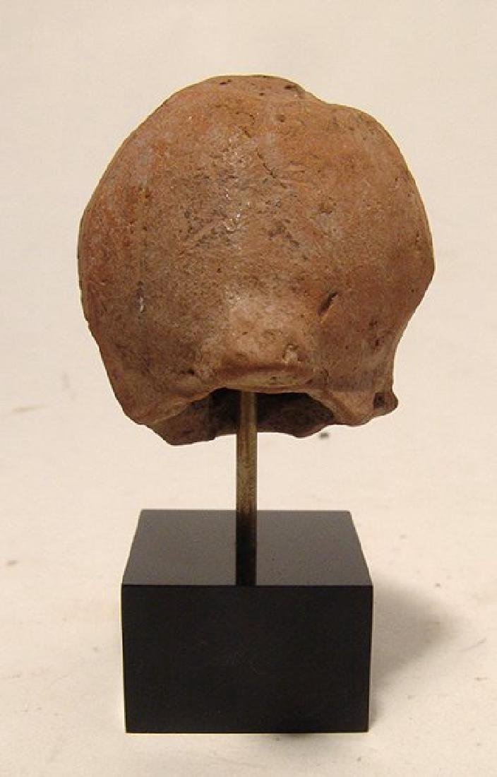 A Greek ceramic head of a male grotesque - 4
