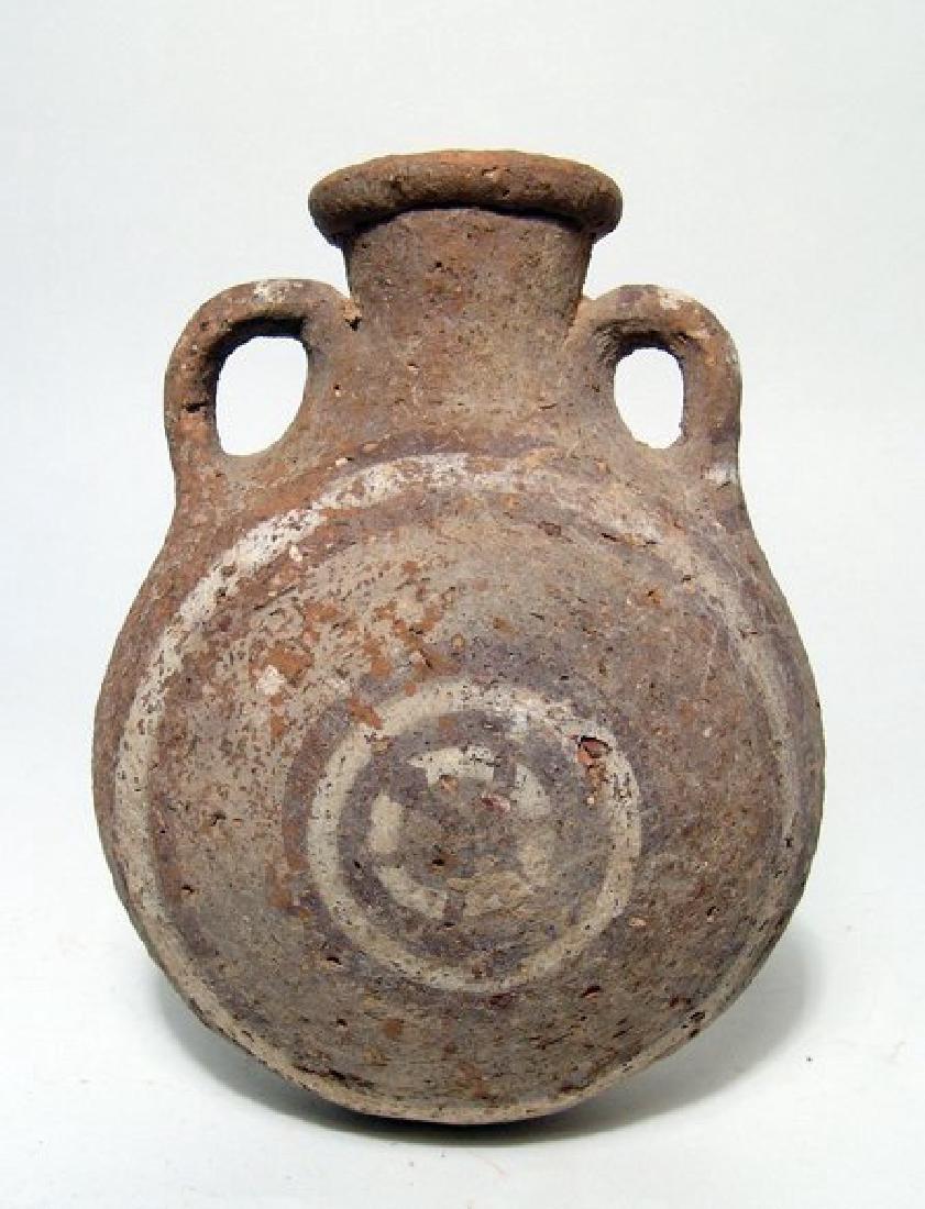 Cypriot Base Ring II ware flask, Late Cypriot II-IIIA