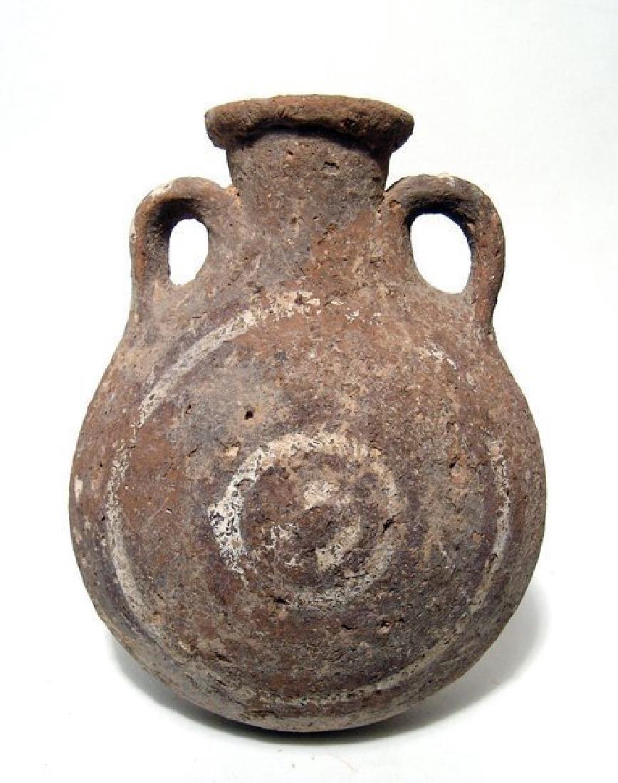 Cypriot Base Ring II ware flask, Late Cypriot II-IIIA - 2