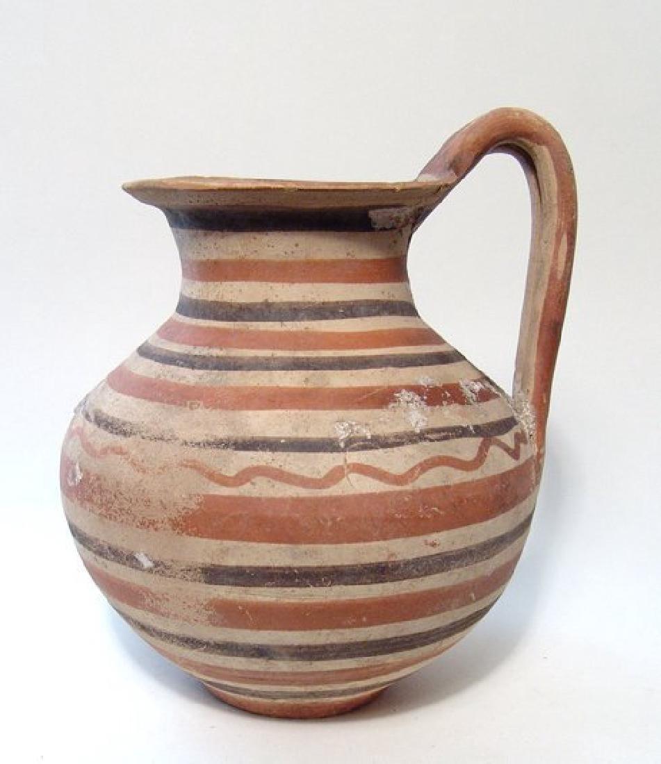 A nice Daunian polychrome banded olla, c. 5th Century