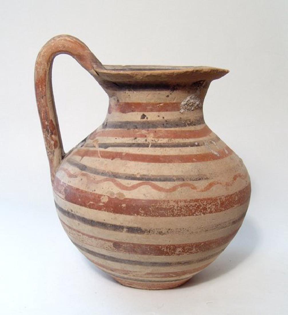 A nice Daunian polychrome banded olla, c. 5th Century - 2