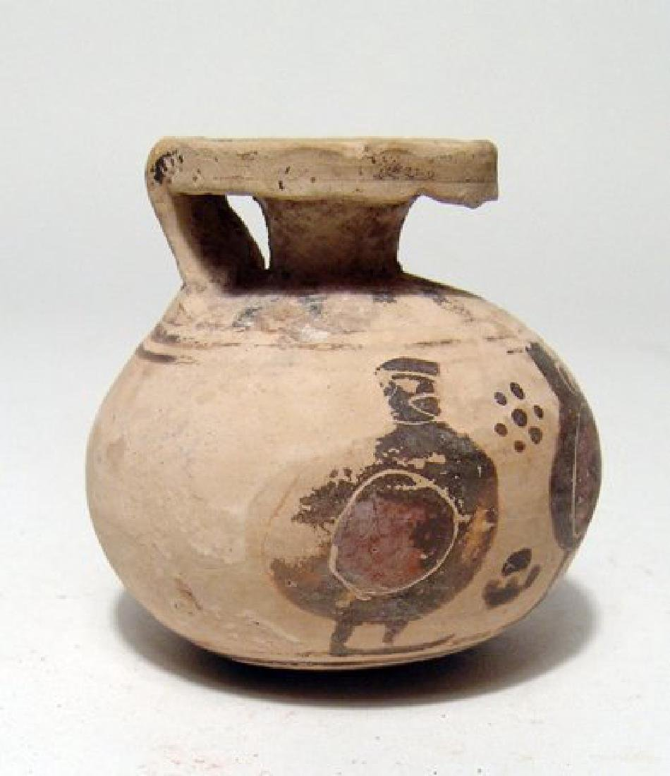 A Corinthian aryballos with stylized warriors - 3