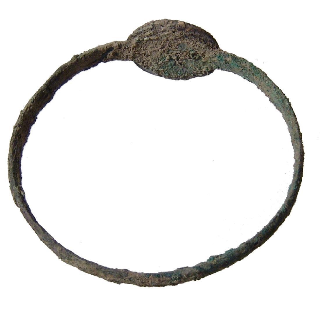 Late Roman/Byzantine bronze and silver bracelet - 2