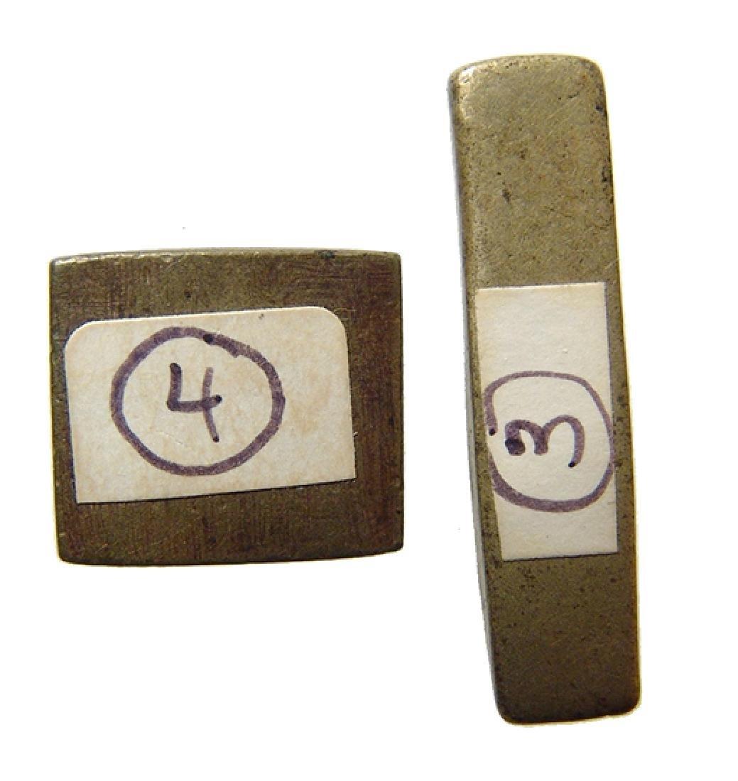 A pair of Ashanti bronze gold weights - 3