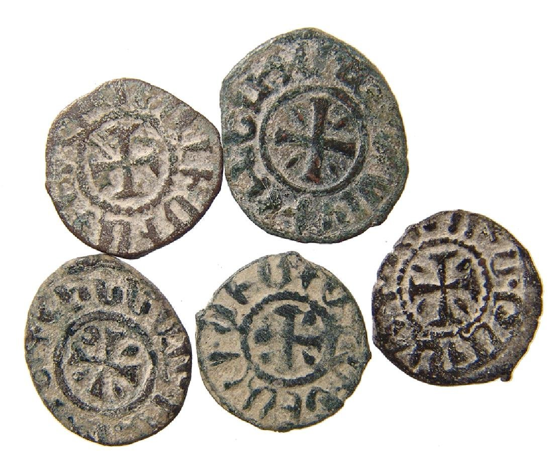 A group of 5 Cilician Armenian coins