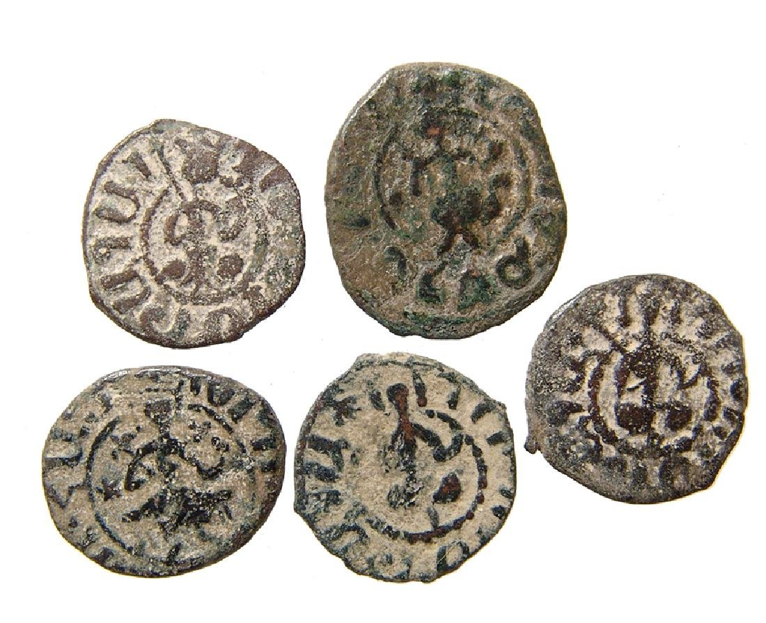 A group of 5 Cilician Armenian coins - 2