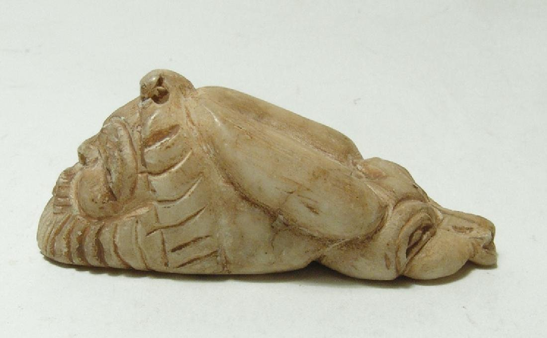 A nicely carved Sumerian-style two-headed marble amulet - 4