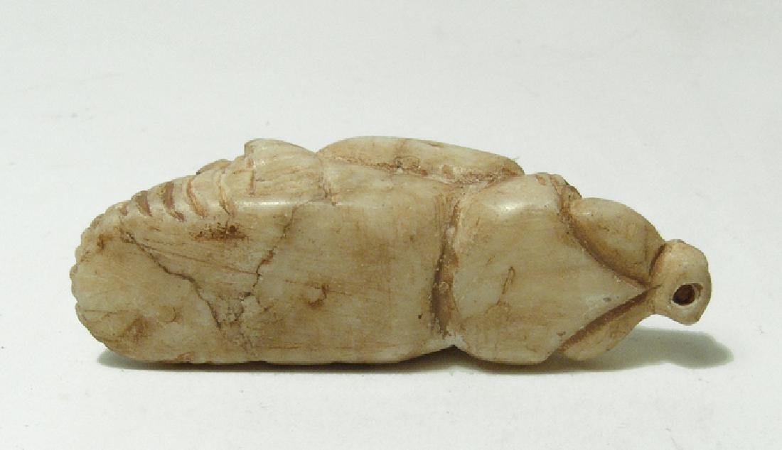 A nicely carved Sumerian-style two-headed marble amulet - 5
