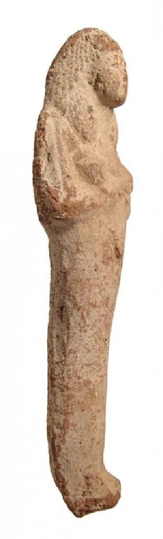 A large Egyptian terracotta ushabti, Late New Kingdom - 2