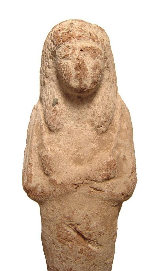 A large Egyptian terracotta ushabti, Late New Kingdom - 3