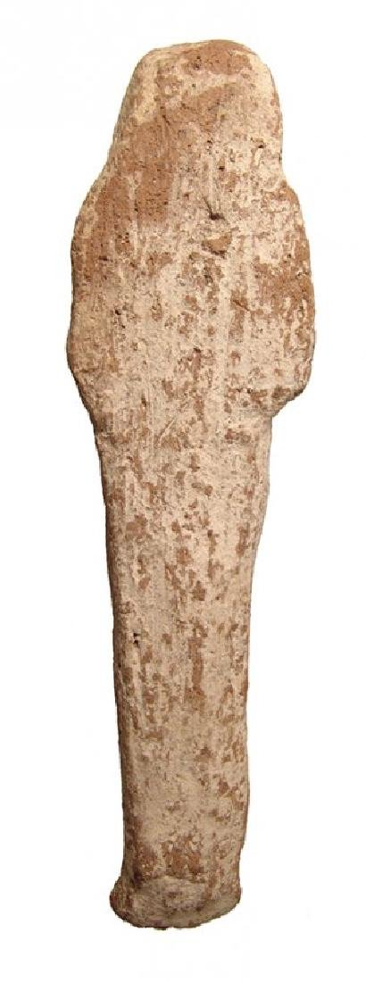 A large Egyptian terracotta ushabti, Late New Kingdom - 4