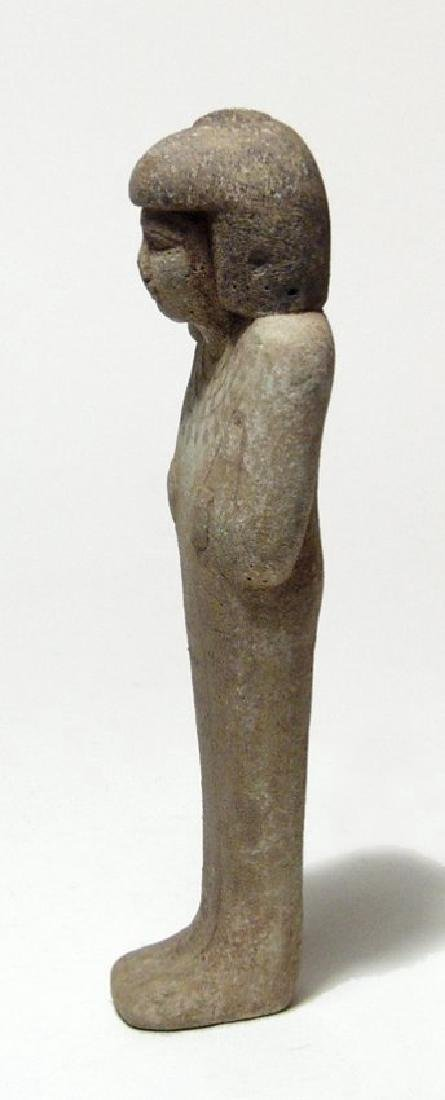 A wonderful Egyptian faience ushabti of rare type - 2