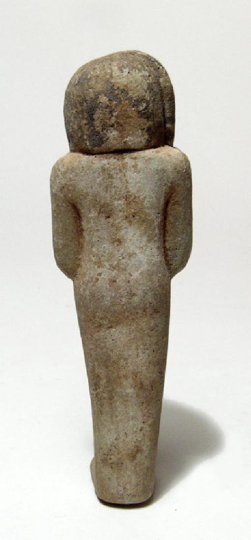 A wonderful Egyptian faience ushabti of rare type - 3