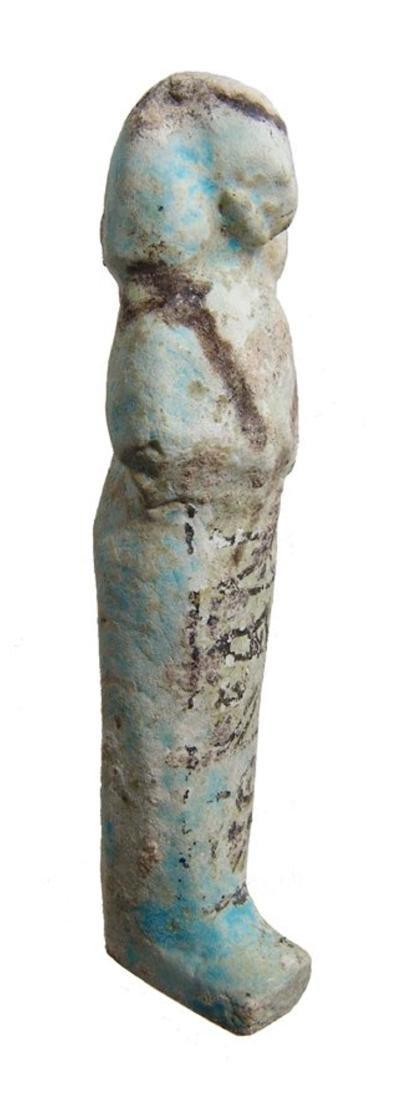 Egyptian bicolor faience ushabti, 3rd Intermediate - 2