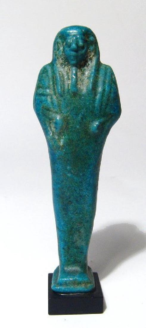 A fantastic Egyptian bright turquoise-blue faience