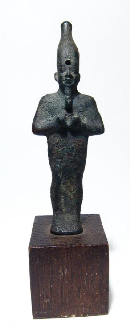 A very nice Egyptian bronze standing figure of Osiris