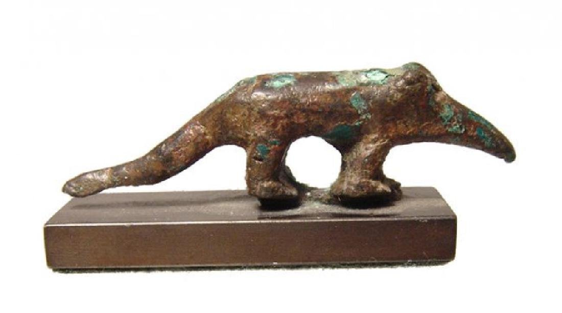 A nice Egyptian bronze figurine of a shrew, Late Period