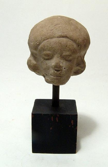 A nice Tumaco-La Tolita ceramic head of a man