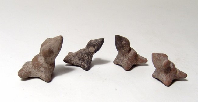 A lot of 4 Colima bird whistles, West Mexico - 2