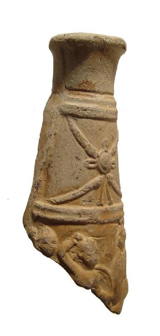 Roman terracotta vessel fragment depicting a battle - 2