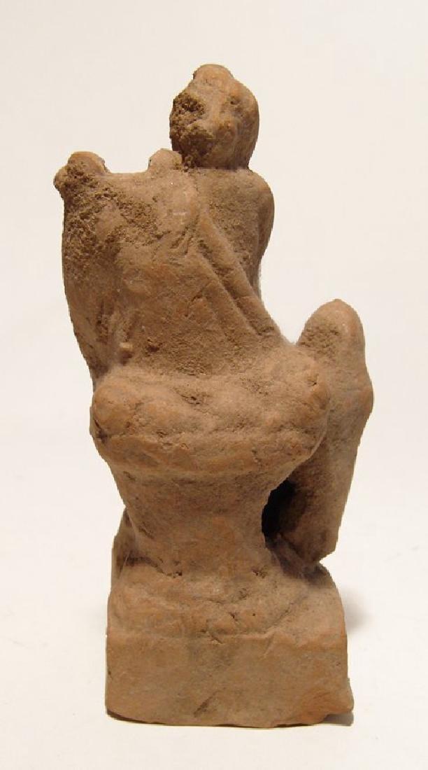 Greek terracotta figurine depicting a seated musician - 5