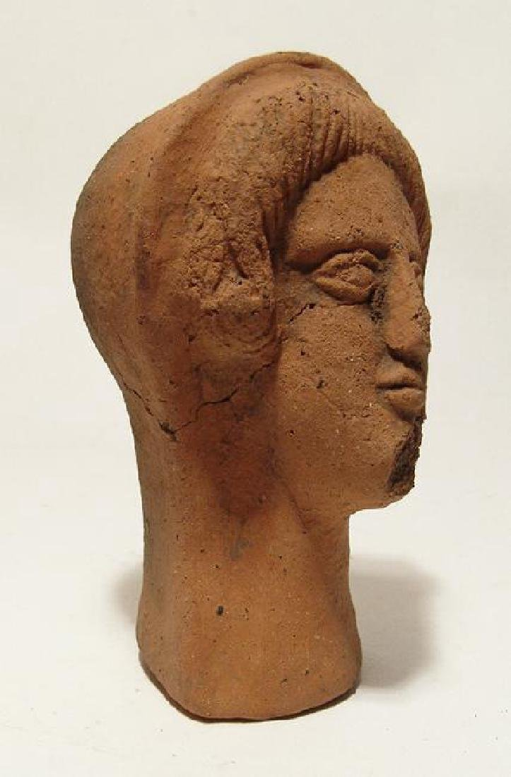 A nicely detailed Etruscan terracotta head of woman - 2