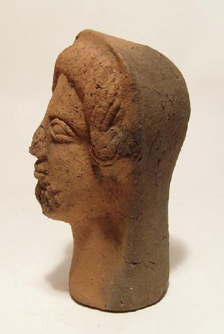 A nicely detailed Etruscan terracotta head of woman - 3