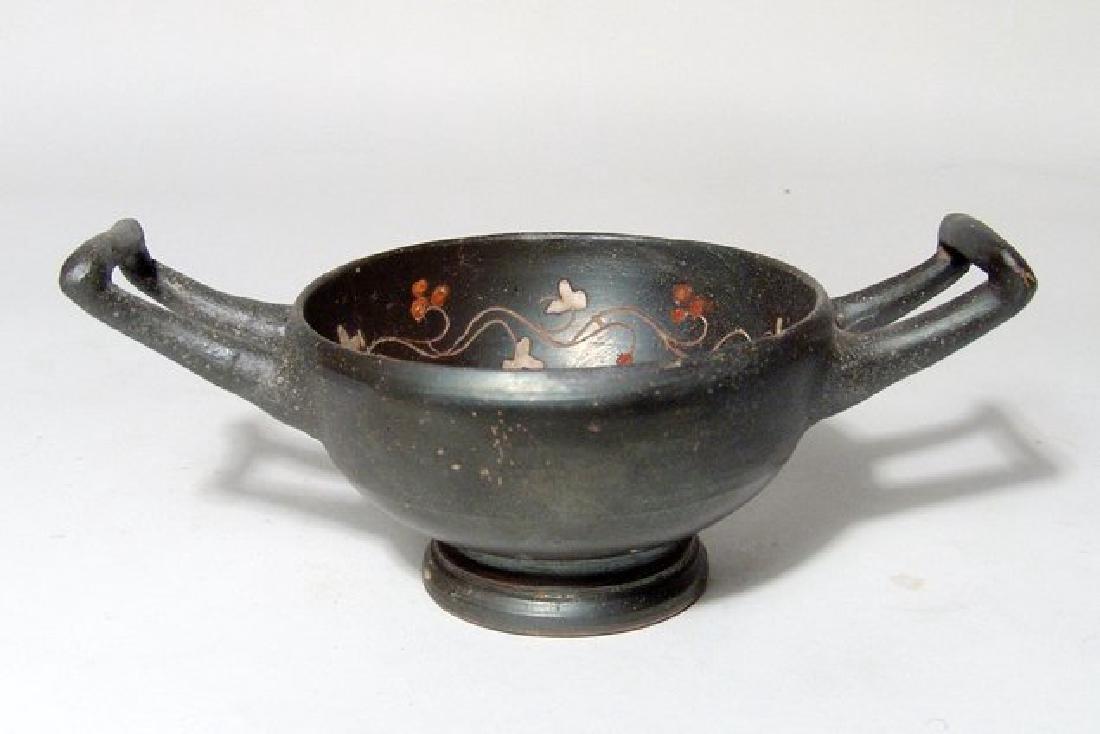 A Greek black-ware kylix, Magnia Graecia - 2