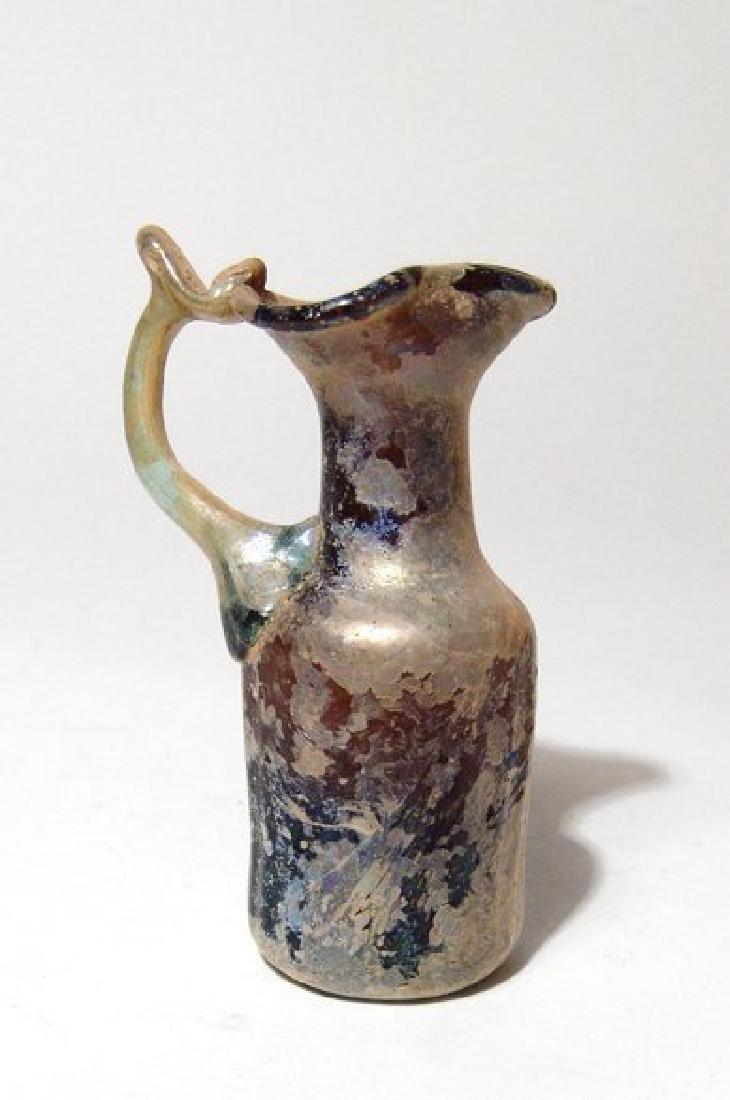 A beautiful Roman amber glass pitcher - 2