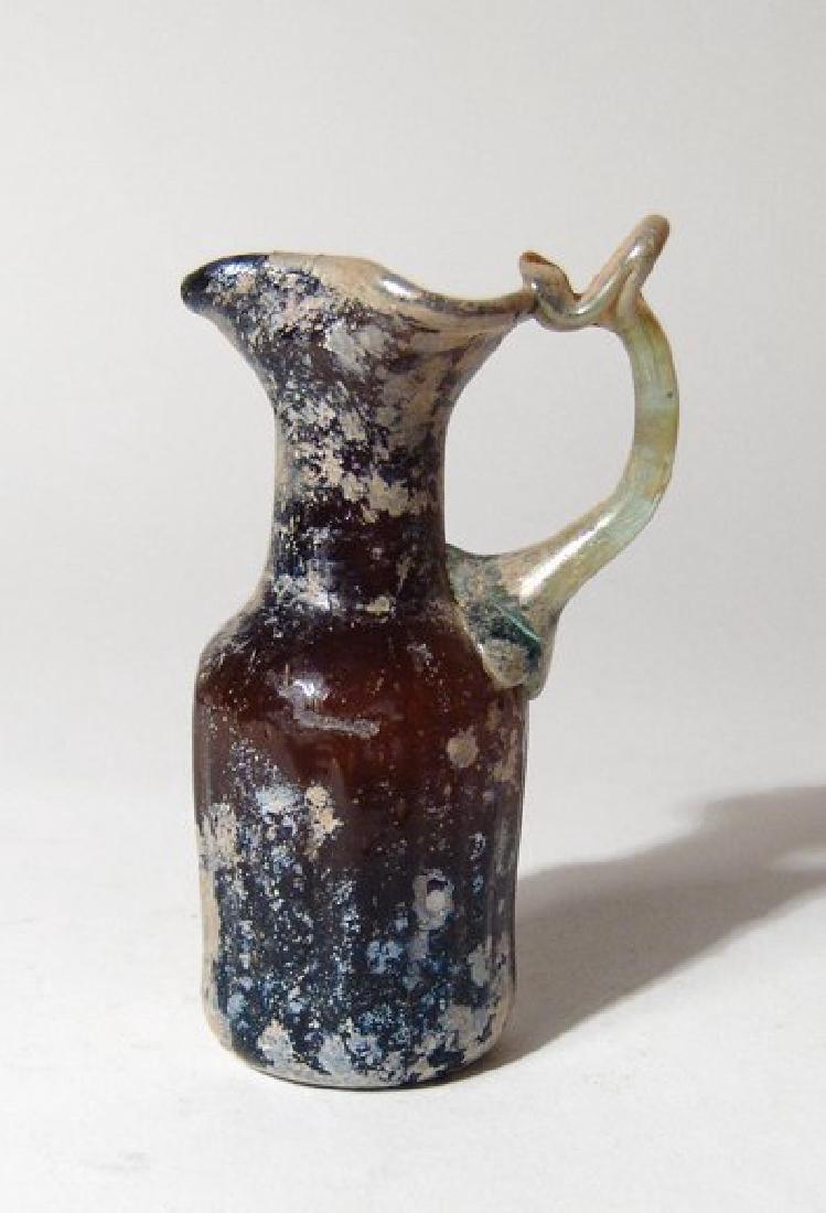 A beautiful Roman amber glass pitcher - 3