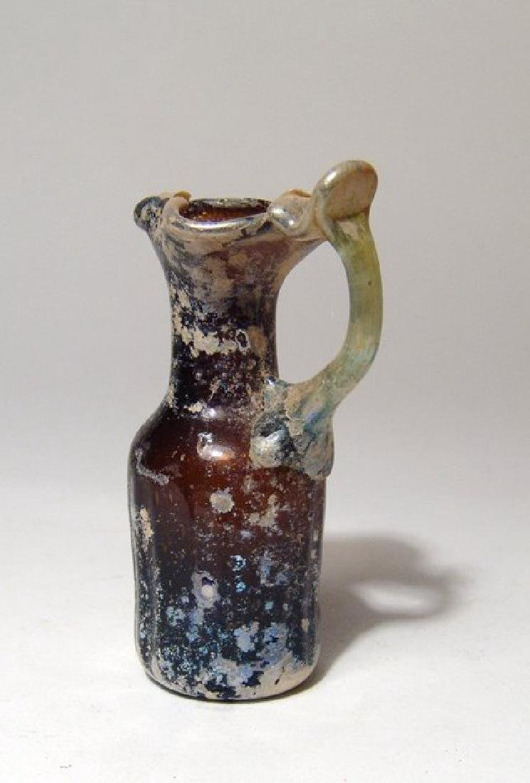 A beautiful Roman amber glass pitcher - 4