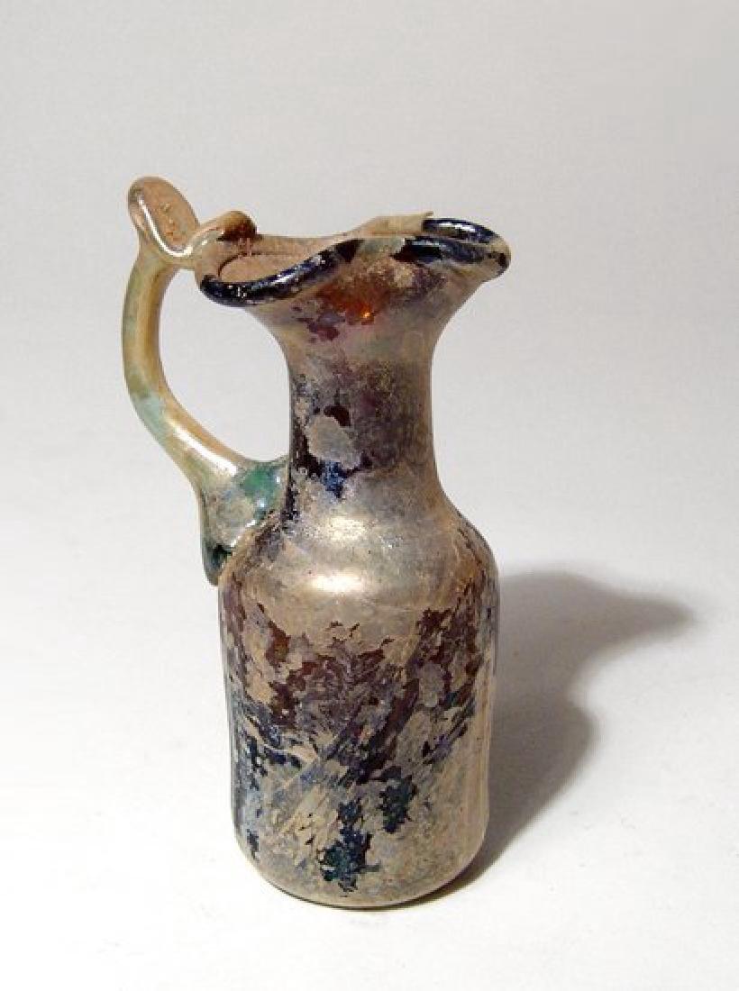 A beautiful Roman amber glass pitcher - 5
